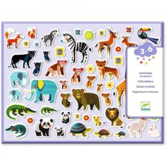 Djeco puffy stickers Moeders en kindjes 3-6 jaar