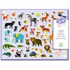 Djeco puffy stickers Moeders en kindjes 3-6 jaar