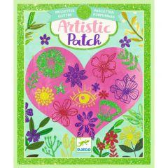 Djeco Artistic Patch glitter Bloemen 6-10 jaar