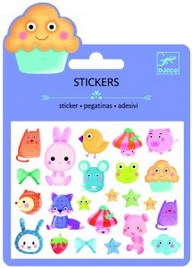 Djeco stickers puffy 23 stuks Kawaii