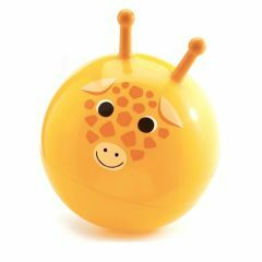 Springbal geel met 2 grepen Gigi 45 cm