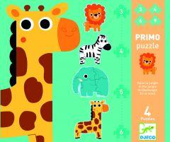 Djeco puzzel In de jungle 2+ 4 puzzels