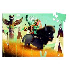 Djeco puzzel Tatanka de jonge indiaan 4+ 36 stuks