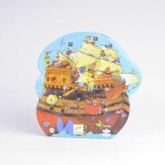 Djeco puzzel Roodbaards piratenboot 5+ 54 stuks