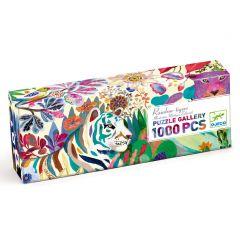 Djeco puzzel Gallery Rainbow Tigers 9+ 1000 stuks