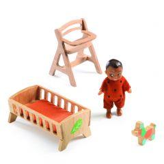 Babykamer Sweetie voor poppenhuis