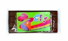 Plasticine softy 500 g bruin