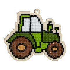 Diamond Painting op hout M traktor