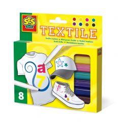 Ses textielstiften 8 stuks assortiment