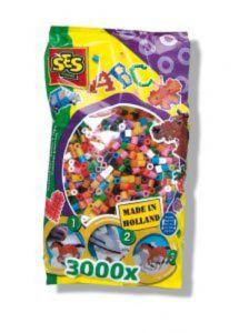 Ses strijkkralen mix kleuren 3000 stuks