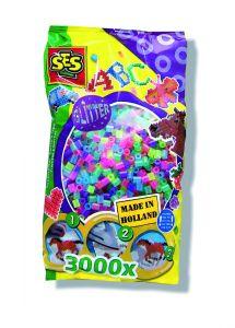 Ses strijkkralen mix glitter 3000 stuks