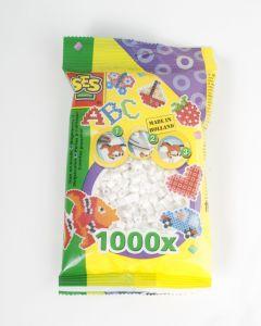Ses strijkkralen 1000 stuks wit