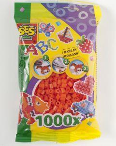 Ses strijkkralen 1000 stuks oranje