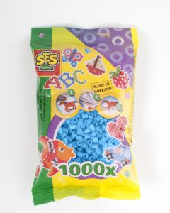 Ses strijkkralen 1000 stuks blauw