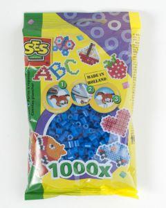 Ses strijkkralen 1000 stuks donkerblauw