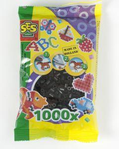 Ses strijkkralen 1000 stuks zwart
