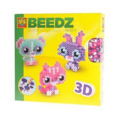 Ses set strijkkralen 3D dierenvriendjes