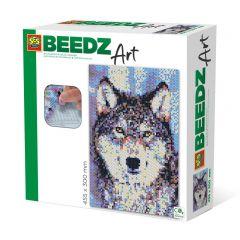 Beedz Art strijkkralen kunstwerk 30x45,5cm wolf