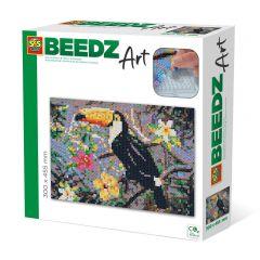 Beedz Art strijkkralen kunstwerk 30x45,5cm toekan