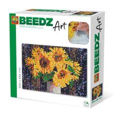 Beedz Art strijkkralen kunstwerk 30x45,5cm zonnebloemen