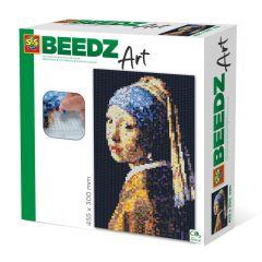Beedz Art strijkkralen kunstwerk 30x45,5cm Meisje met parel