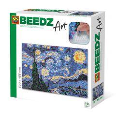 Beedz Art strijkkralen kunstwerk 31x46,5cm De sterrennacht