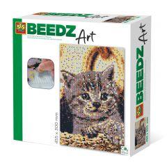 Beedz Art strijkkralen kunstwerk 30x45,5cm poes