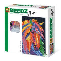 Beedz Art strijkkralen kunstwerk 30x45,5cm paard