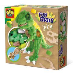 Funmaïs set Dino met houten skelet