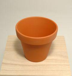 Bloempot terracotta met rand D 9 H 8 cm