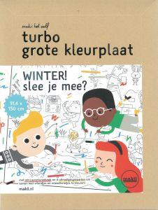 Turbo grote kleurplaat Winter