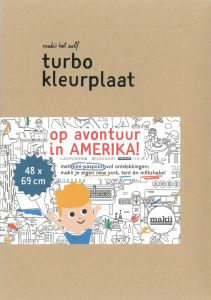 Turbo kleurplaat Amerika