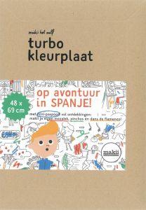 Turbo kleurplaat Spanje
