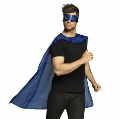 Chiroheld blauw (oogmasker + cape)