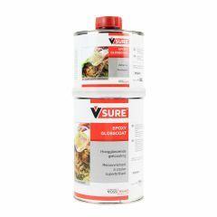 Hoogglanzende epoxy gietlaag 1 kg met verharder
