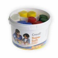 Creall plasticine Super Soft 1750 g 5 kleuren x 350 g