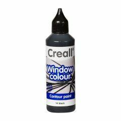 Creall Window Colour 80 ml contour zwart