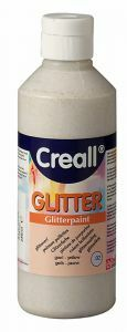 Creall glitterverf 250 ml zilver