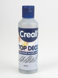 Creall Top Deco acrylverf 80 ml zilver