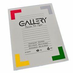 Gallery tekenblok 27 x 36 cm 120 g 24 vellen wit