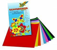 Gegomd glanspapier 18 x 30 cm 10 kleuren