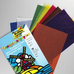 Transparant papier 18 x 30 cm 10 kleuren