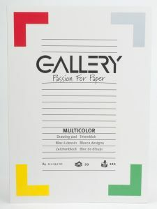 Gallery tekenblok A4 21 x 29,7 cm 120 g 20 vellen 10 kl.