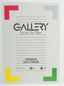 Gallery tekenblok A4 21 x 29,7 cm 190 g 20 vellen wit