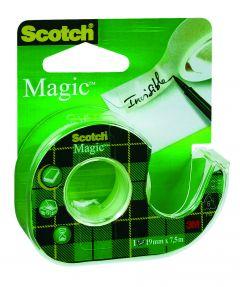 Plakband Scotch Magic 19 mm breed 7,5 m + dispenser