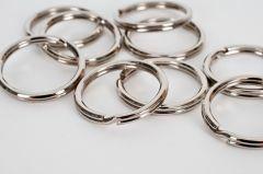 Sleutelring 25 mm 10 stuks zilverkleurig