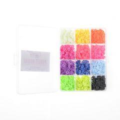Heishi kralen 6 x 1 mm 1750 stuks 12 kleuren fel