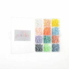 Heishi kralen 6 x 1 mm 1750 stuks 12 kleuren pastel