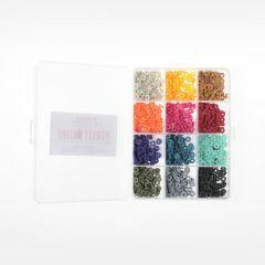 Heishi kralen 6 x 1 mm 1750 stuks 12 kleuren trendy