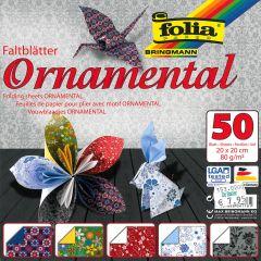 Origamiblaadjes 20 x 20 cm 50 stuks Ornamental